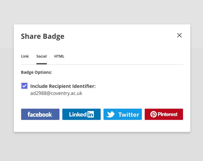 badgr social media share
